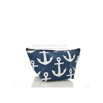 cheap fabric cosmetic bag with clutch handle