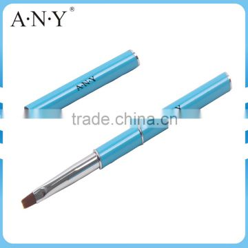ANY Hot Selling Good Quality Mental Handle Nylon hair Double Use Nail Art Brush