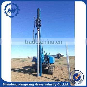 Hammer piling machine for solar power plant project