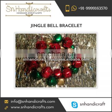 Colorful Christmas Theme Custom Made Jingle Bell Bracelet