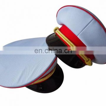 good shape of uniform dress hat/uniform cap with red piping