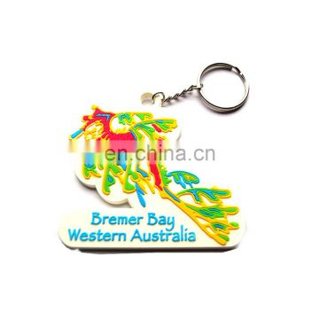 Metal Key Ring with PVC Charm