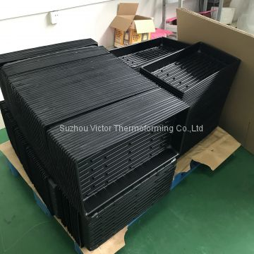 Blister HIPS Hydroponic Plant Seed Growing Tray/ Rectangular Nursery Tray Plastic Flat Seedling Tray with drain holes