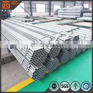 Hot dip gavanzied steel pipe threaded end with couplings length 6m
