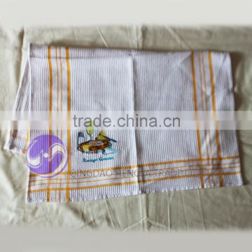china supplier wholesale custom printed embroidery design plain white cotton kitchen towel