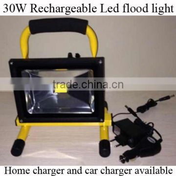 Portable high quality 30W rechargeable led flood light