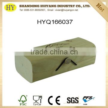 high quality unfinished birch veneer wooden gift box wholesale