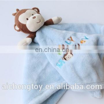 lovely plush baby comforter blanket various design accept OEM service CE pass