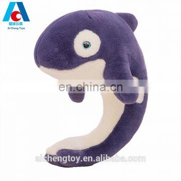 sea animal japan whale design blue plush stuffed toy pillow