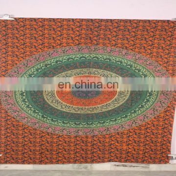 Wholesale mandala Floral Handmade Design Indian printed mandala wall tapestry Hall Decor
