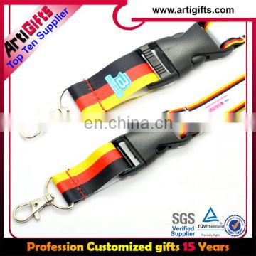 Factory approval top design sublimation lanyards with custom logo