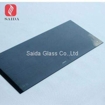 China OEM glass manufacturer 4mm heat tempered CNC shaping glass with black silk screen printed for electrical midi oven door