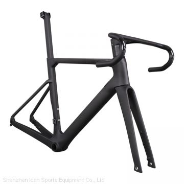 Wholesale A9 All Internal Cable Carbon Disc Brake Flat Mount Road Bike Frame