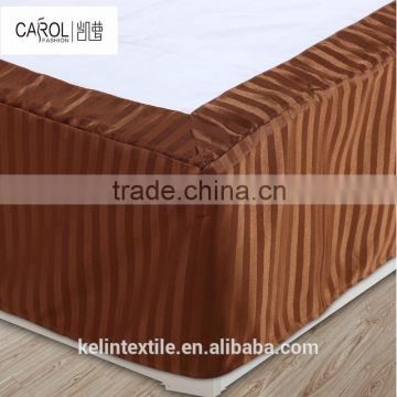 china manufacture wholesale nice design luxury hotel bed skirt