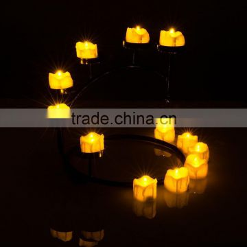 Amazon hot seller led yellow flicking tealight drop tear led tealight candle flameless tealight candles battery powered candles