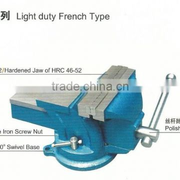 Light duty french type bench vice (swivel with anvil) 98 series