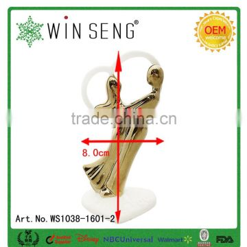 Lover Dancing heart shaped Ceramic Wedding Decoration