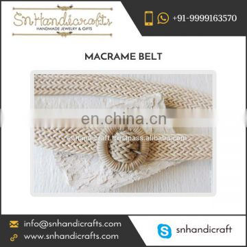 Wholesale Supplier of Braided Macrame Nautical Belt