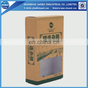 Packaging custom craft paper box with printing
