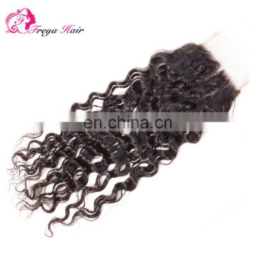 Wholesale virgin hair vendors brazilian hair 3 part closure