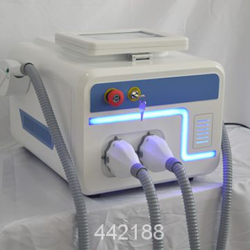 USA FDA IPL Elight SHR hair removal machine skin rejuvenation with 2 handles