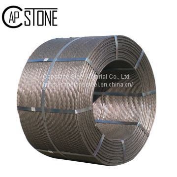 1*7 wires ASTMA416 12.7MM 15.2MM 1860Mpa Building and construction material PC Strand used in railway sleepers from chinese