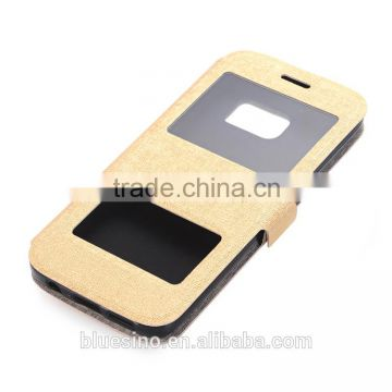 Window cell phone lether case for Samsung A9