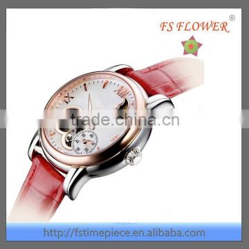 FS FLOWER- 2015 Best Nice Design Skeleton Mechanical Watches For Women