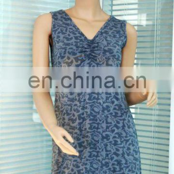cotton and bamboo women one-piece dress