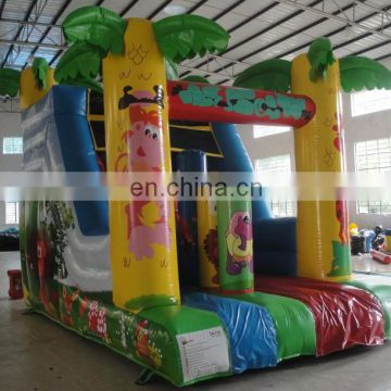 Commercial PVC used Jungle inflatable water slide for children
