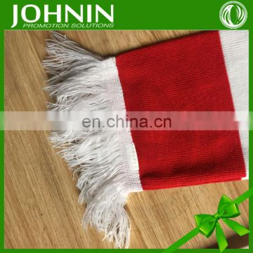 best selling top quality printing fan knitted acrylic scarf