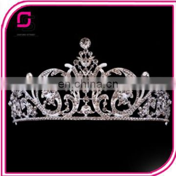 European Style Baroque Alloy Diamond Crown Bride Wedding Accessories Headdress