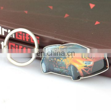 Design Your Own Promotional Brass Photo Charm Blank Custom Printed Car Keyring