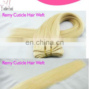 Hot sale factory cheap price high quality 100% human remy humanhair extension weft blonde