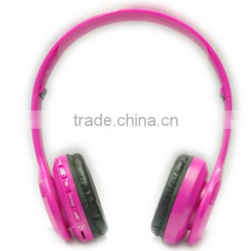sexy pink girls stereo sound low price bluetooth headset for wholesale ,customise brand                                                                                                         Supplier's Choice