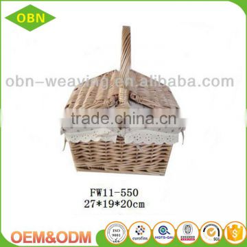 China custom excellent quality wholesale cheap handmade mini empty wicker picnic basket