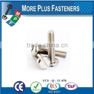 Made In Taiwan Slotted Pan Head Machine Screw