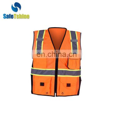 New design hot selling OEM service reflective Traffic Safety Vests