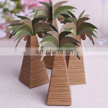 party wedding chocolate candy box coconut tree candy box