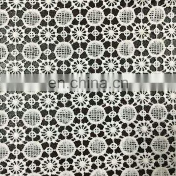 cheap milky yarn lace fabric used on garment