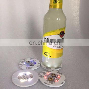 EVA 3M tape led lighting coaster for beer/vodka bottle
