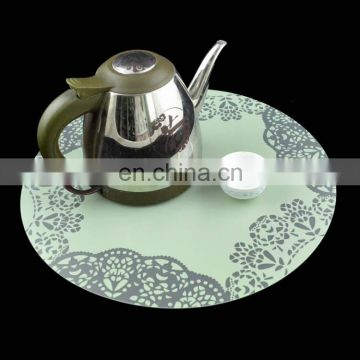 Round shape custom printed plastic placemats