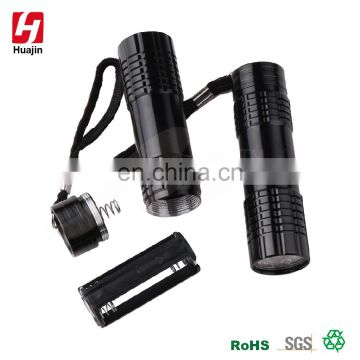 Chirsmas promotional gifits EDC aluminum alloy 9 LED flashlight,torch