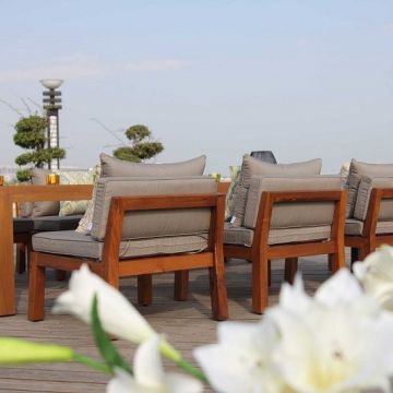 Hotel Low Maintenance Modern Teak Furniture Teak Outdoor Furniture