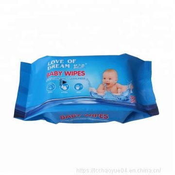 Spunlace Non-Woven Baby Wet Wipes 30pcs per bag