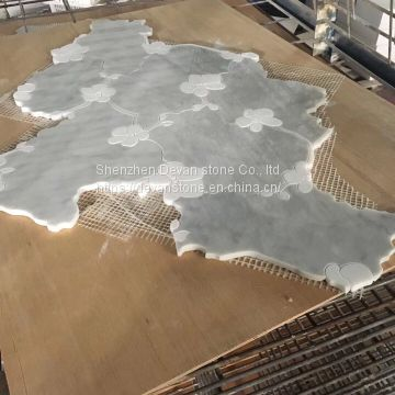 best selling mosaic bathroom floor waterjet mosaic