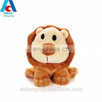 brown short plush stuffed toy lion for crane machine toy