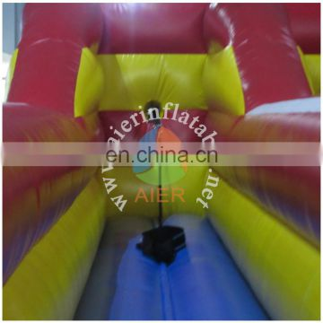 best selling 3-color bungee run, commerical inflatable racing sport game