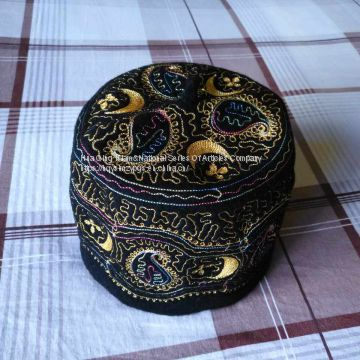 2018 Africa Muslim embroidered wool cap   embroidered wool cap