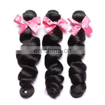 Natural human hairloose wave brazilian hair weave prices